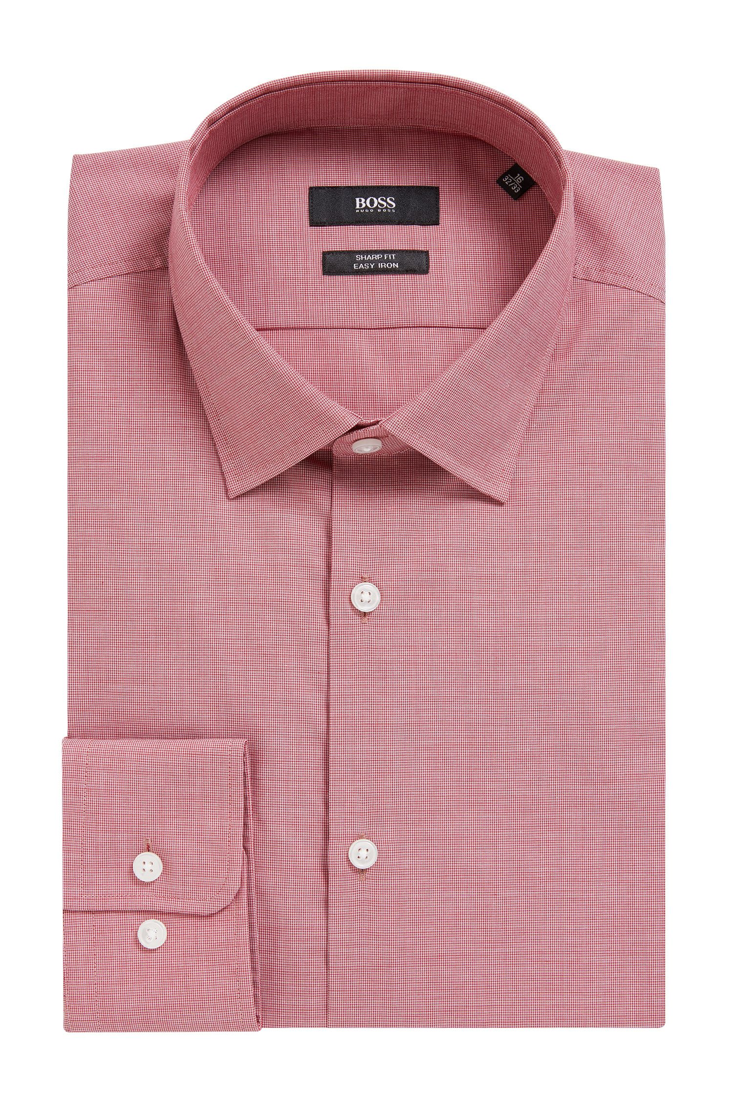 Textured Cotton Dress Shirt, Sharp Fit | Marley US