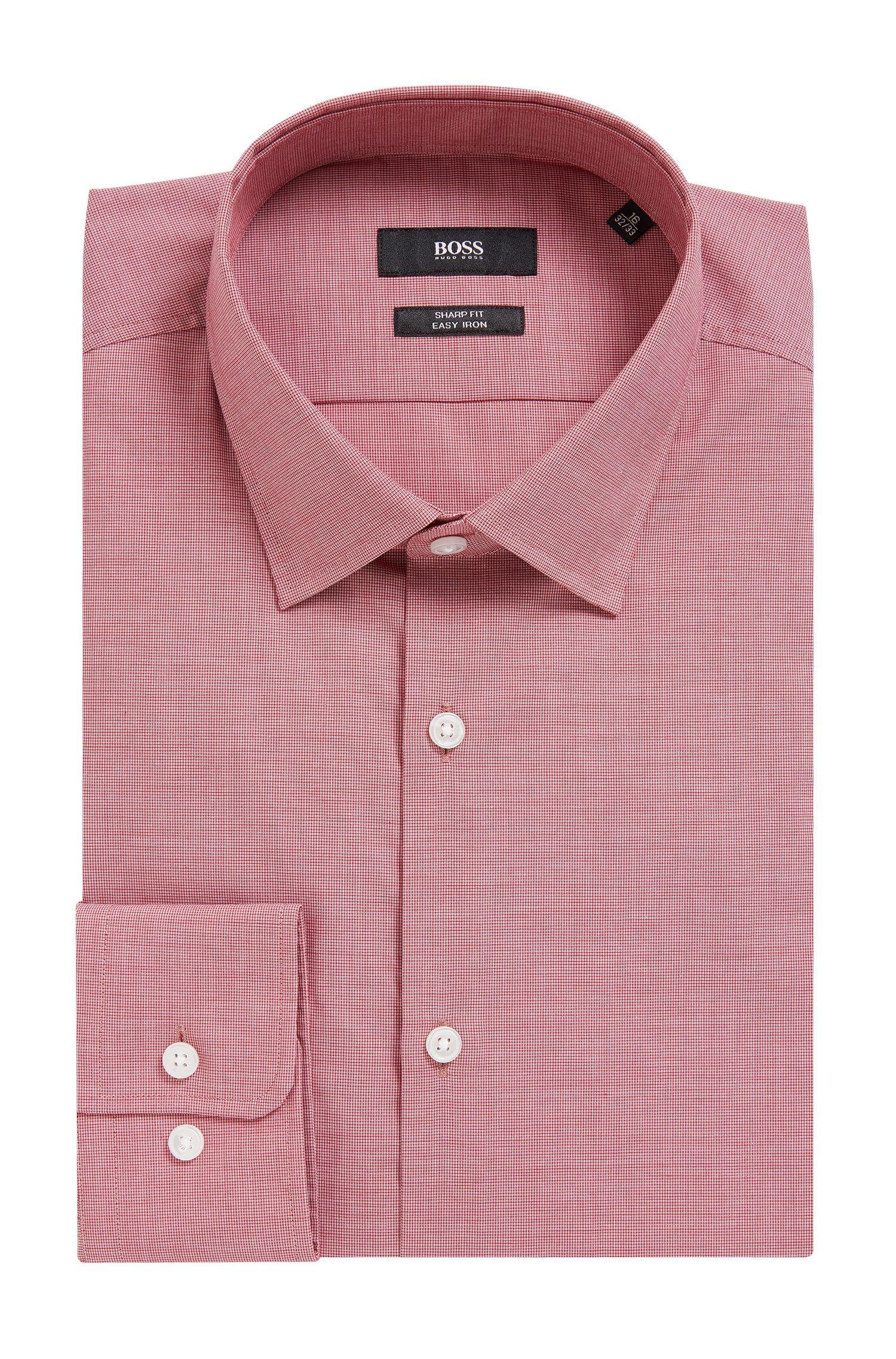 Textured Cotton Dress Shirt, Sharp Fit | Marley US