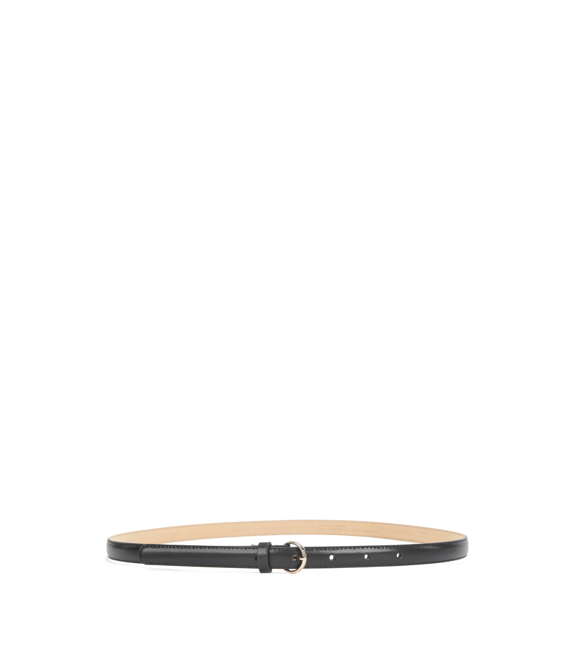 Skinny Leather Belt | Bonnie, Black