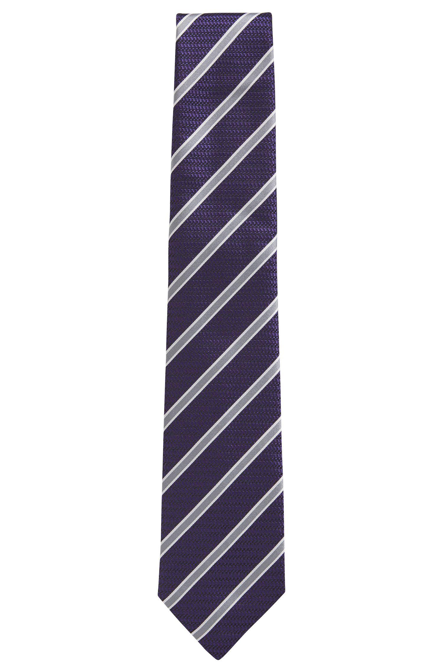 Striped Silk Tie, Regular   T-Tie 8 cm