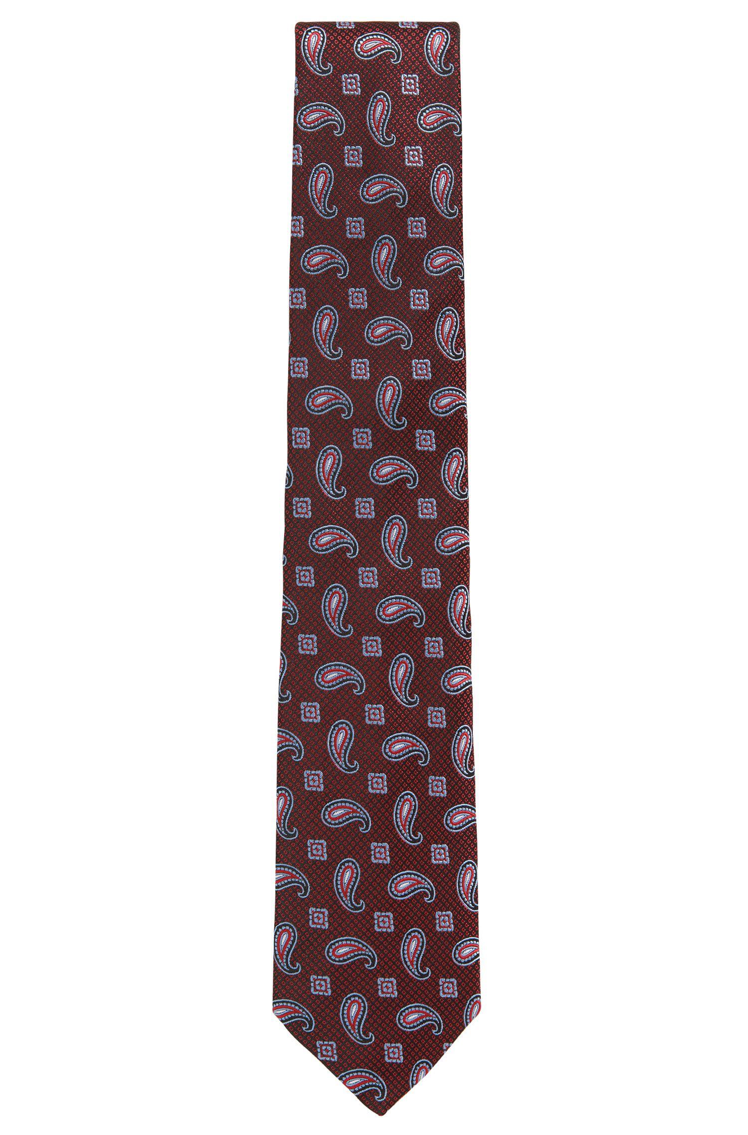 'T-Tie 8 cm' | Regular, Paisley Silk Tie