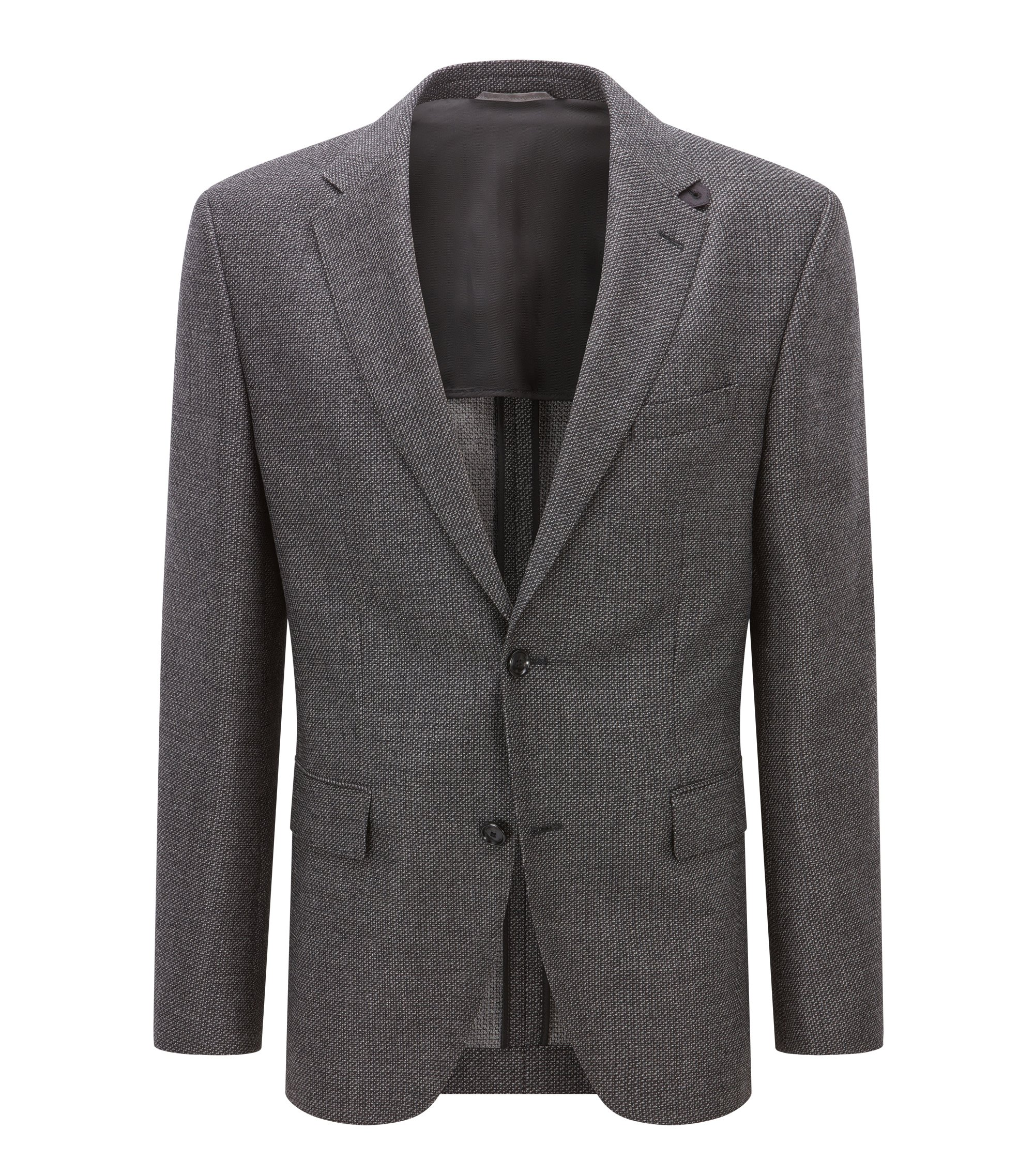 Virgin Wool Sport Coat, Regular Fit | Jestor, Open Grey