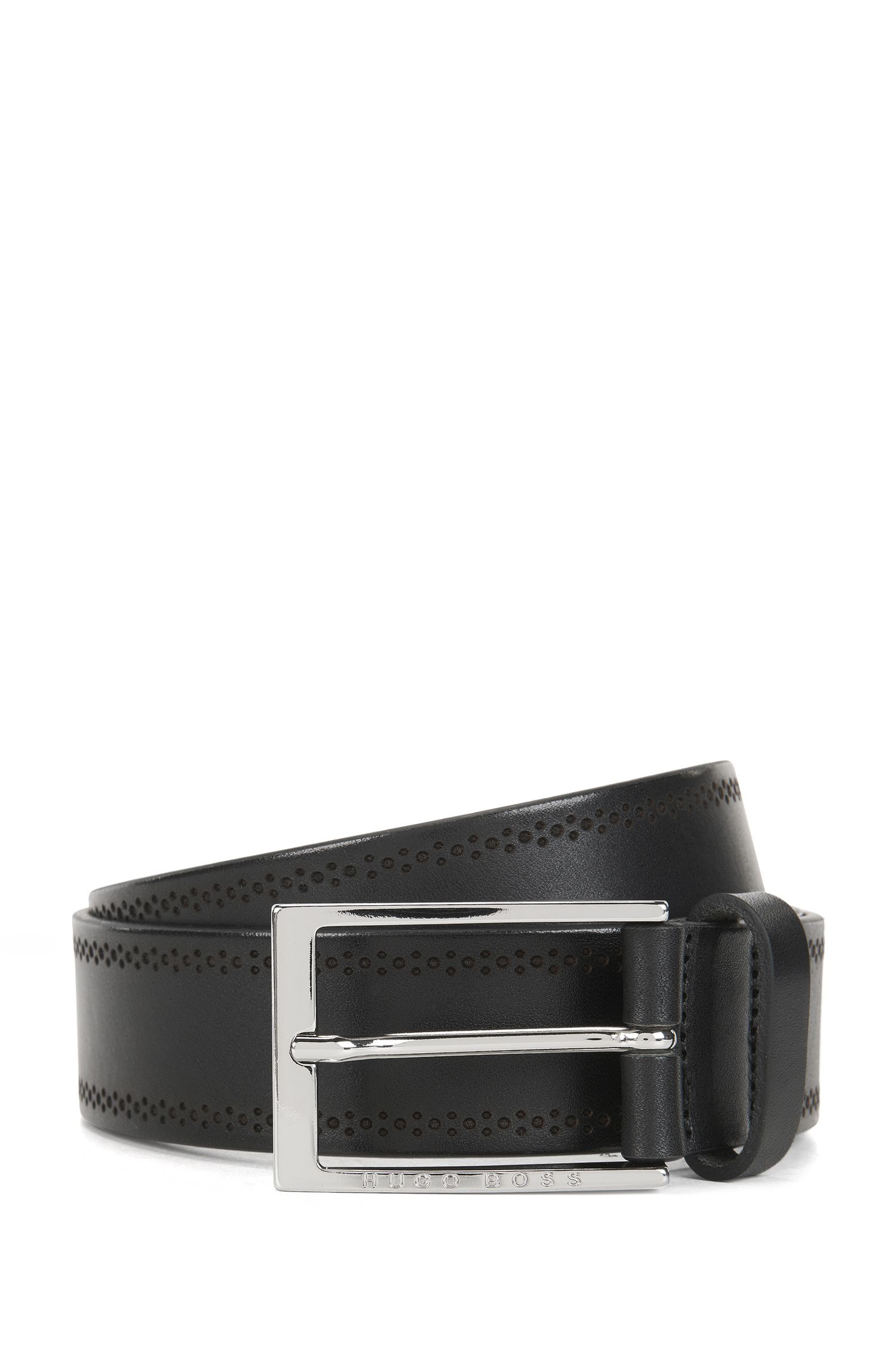 Brogue Leather Belt | Cludo Sz Ltbg