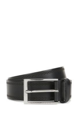 Brogue Leather Belt | Cludo Sz Ltbg, Black