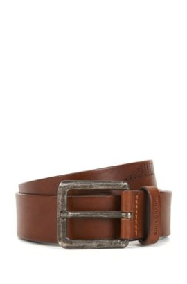 'Jonn Sz Ltpf' | Leather Belt, Brown