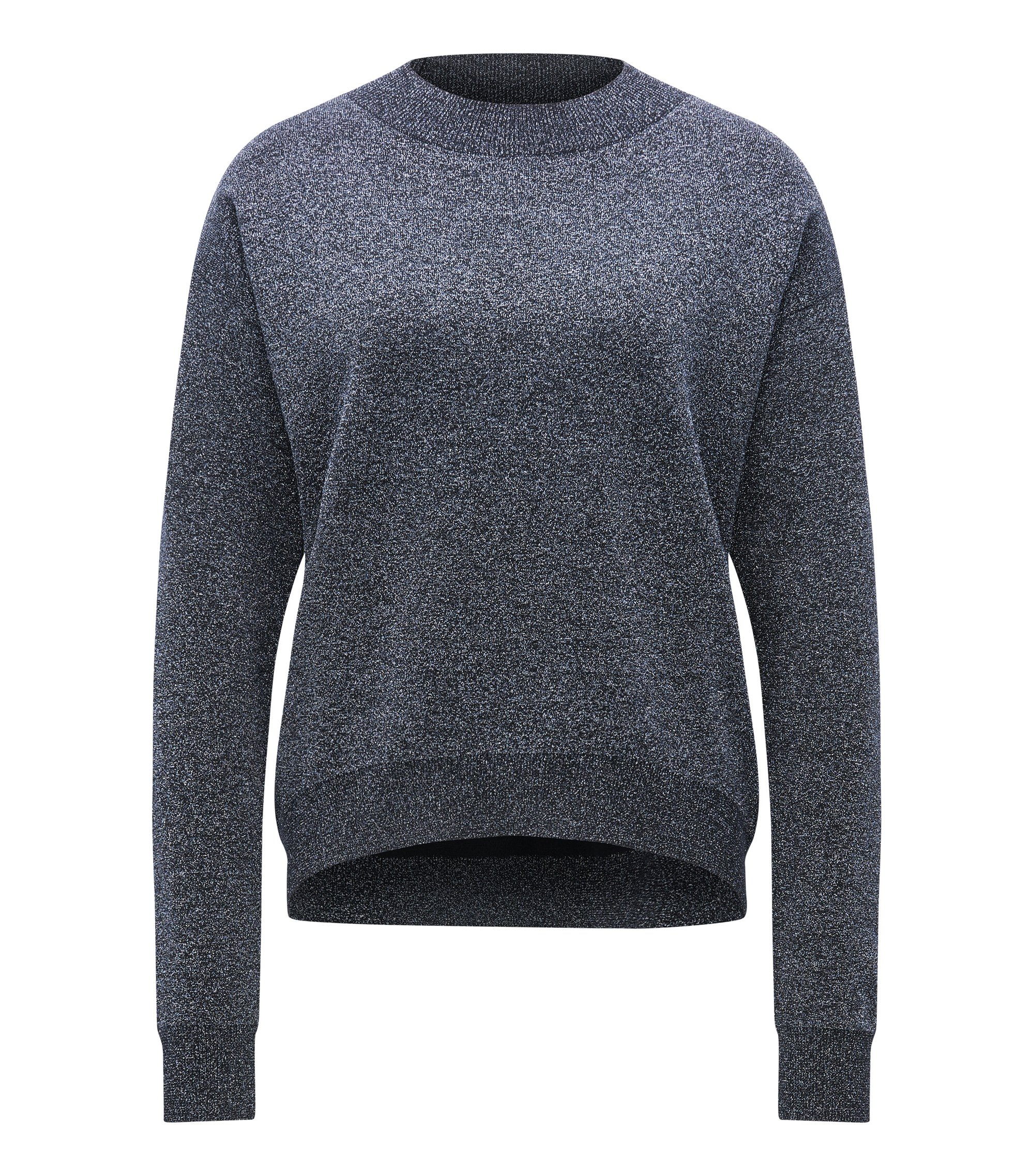 Matallicized Virgin Wool Sweater | Funday, Open Blue