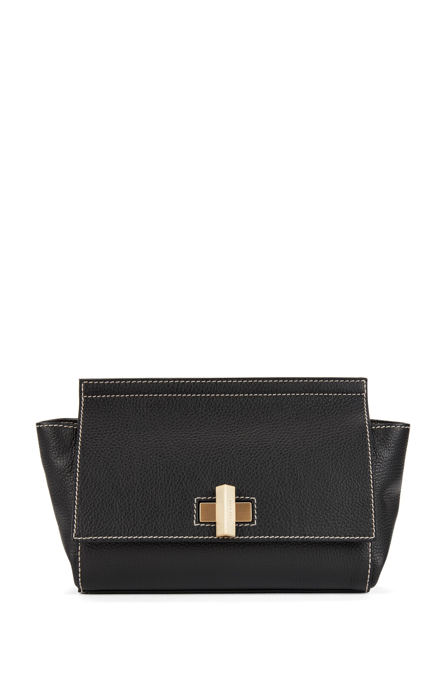 Full-Grain Leather Bag | BOSS Bespoke Soft CW, Black