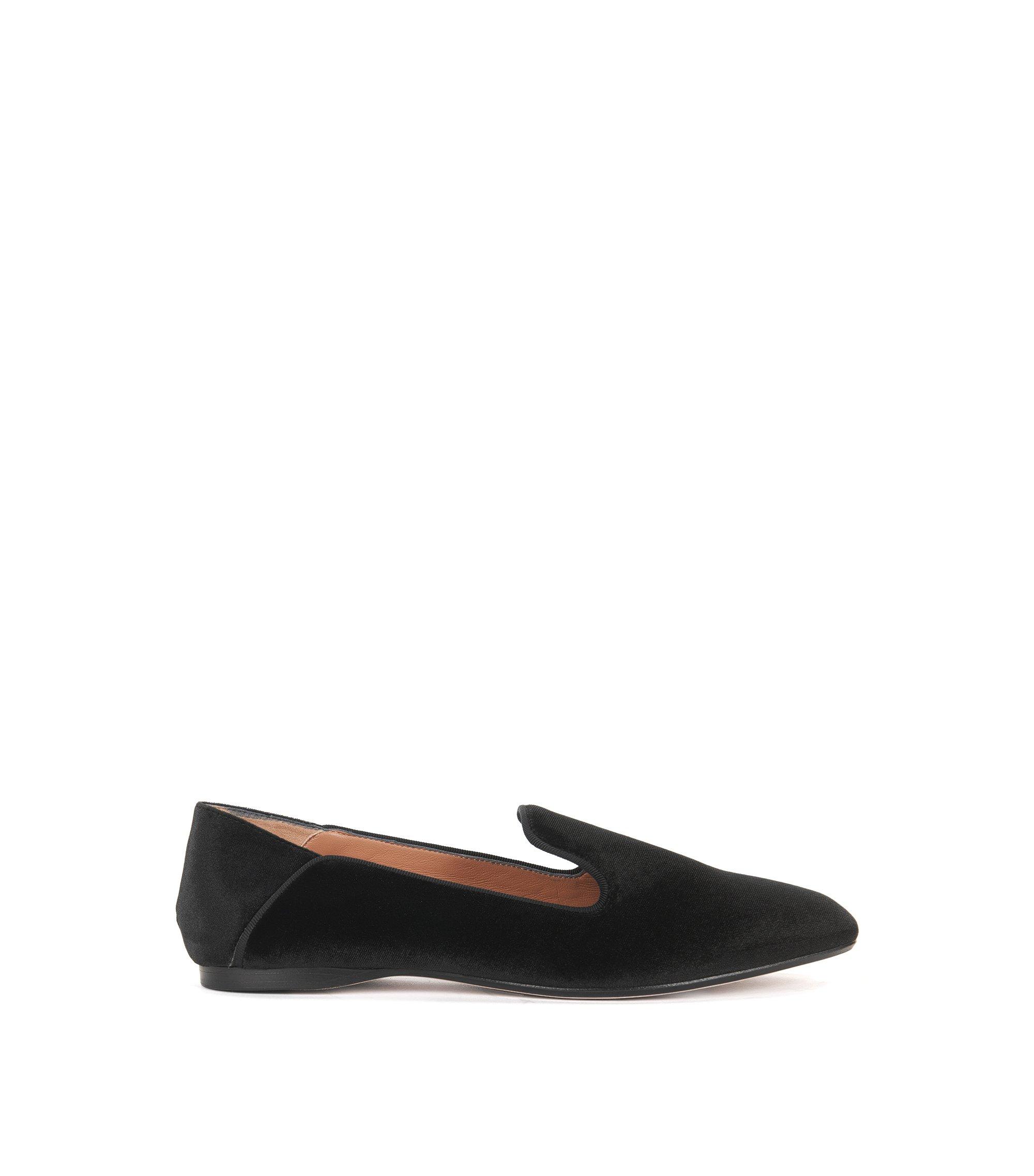 Italian Velvet Smoking Slipper | Modern Moccasin VT , Black