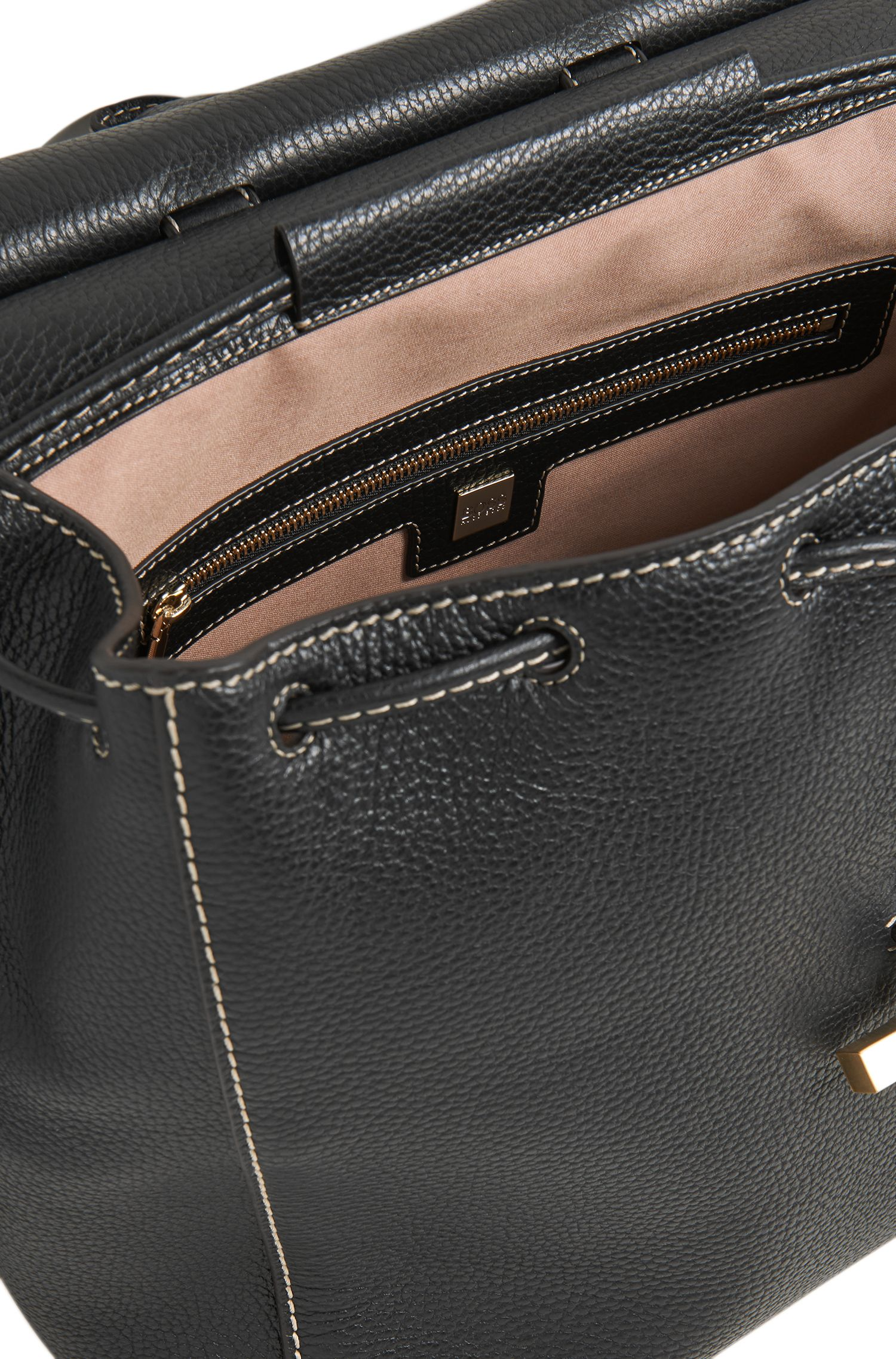 Full-Grain Leather Backpack | Soft Backpack, Black