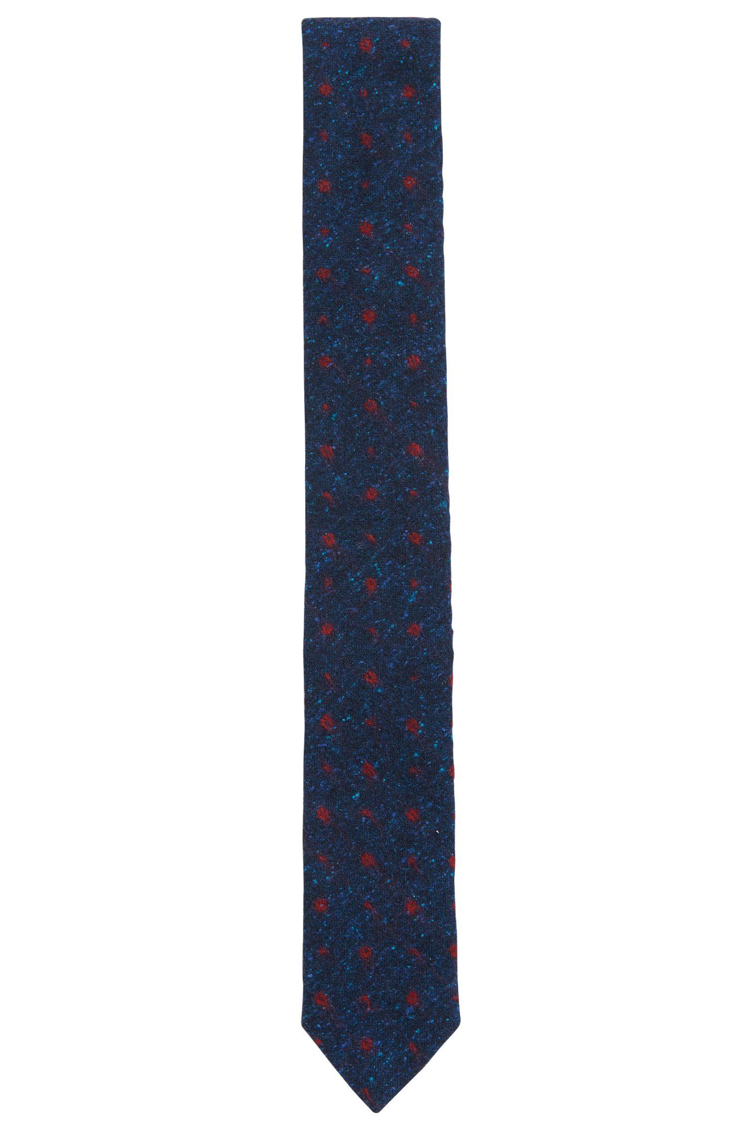 Floral Silk Wool Slim Tie
