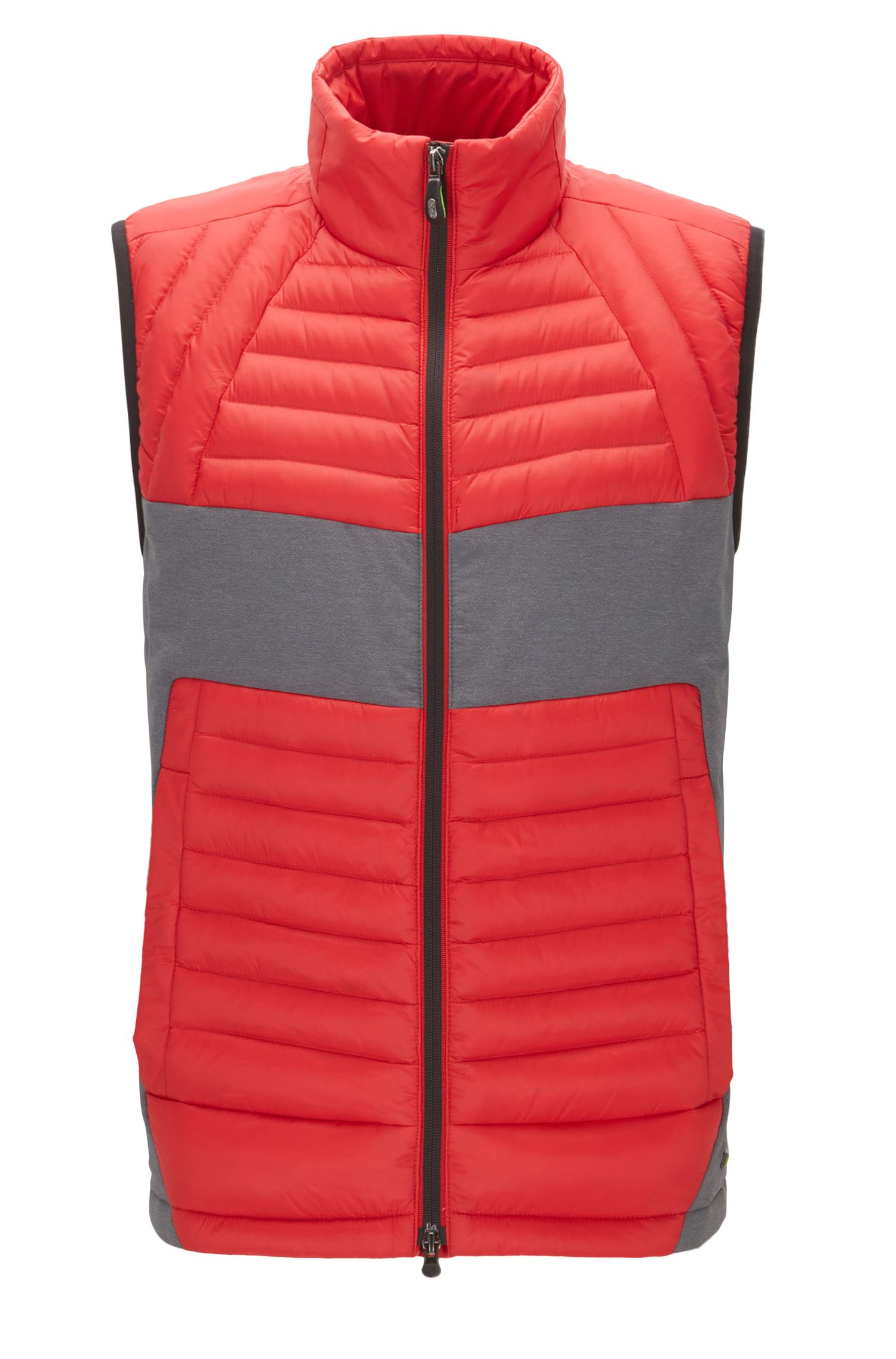 Colorblocked Quilted Vest | Vecko
