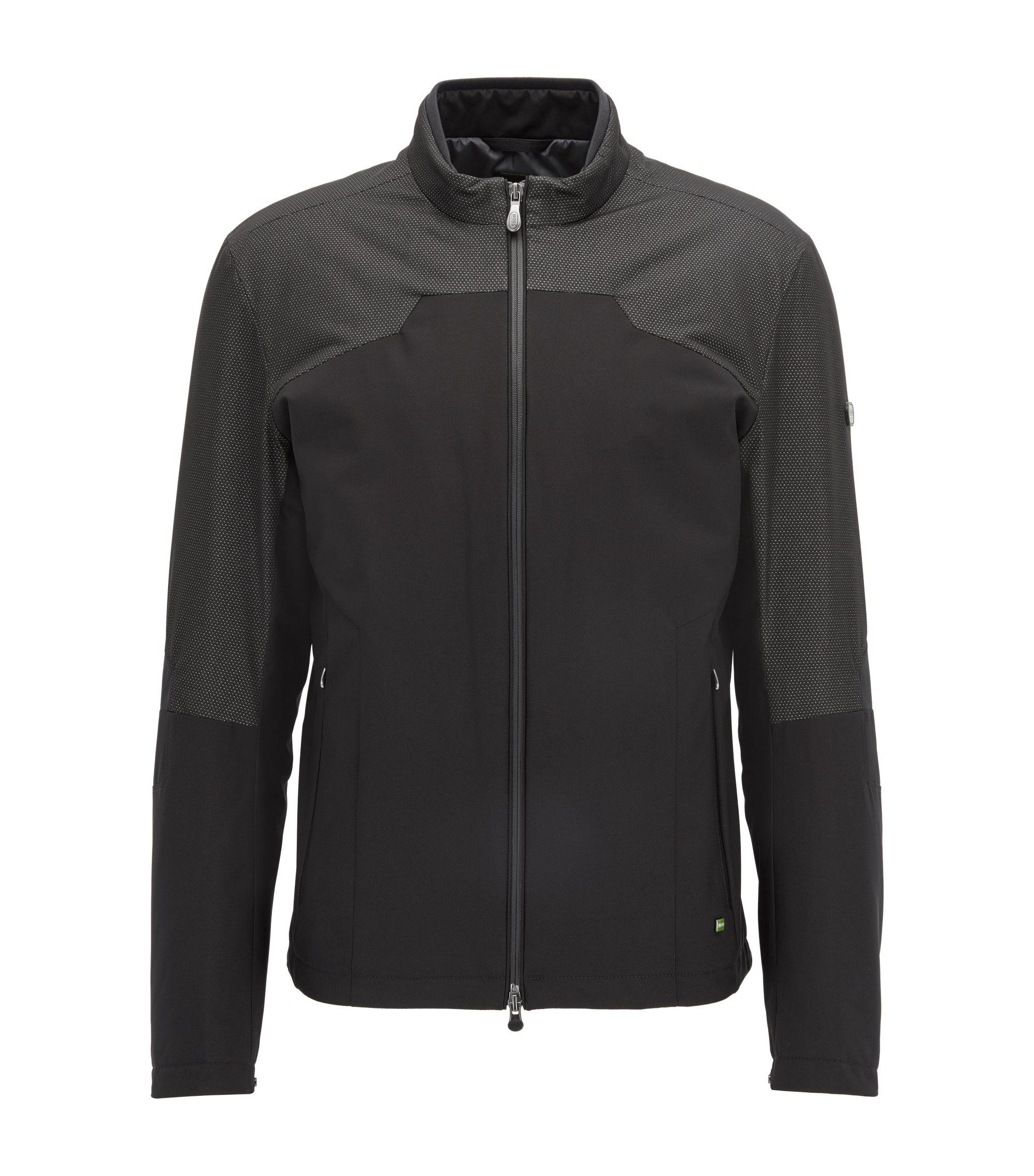 Pin-Dot Track Jacket | Joutlaw, Black