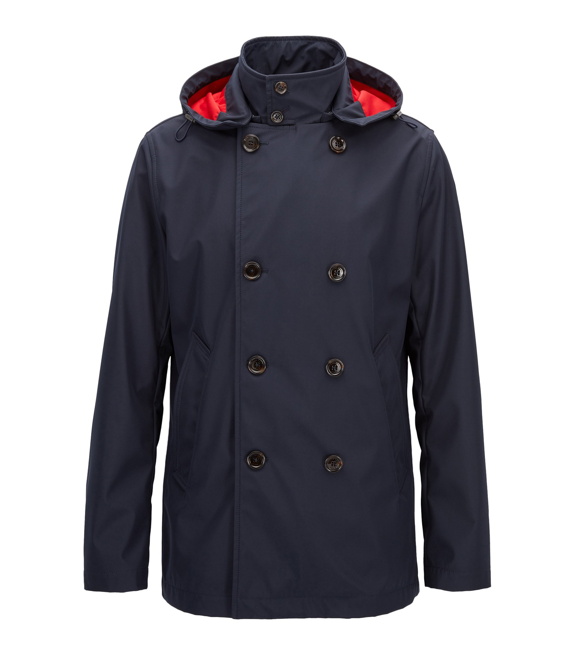 Water-Resistant Double-Breasted Jacket | Callan, Dark Blue