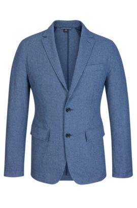 Cotton Sport Coat, Slim Fit | Narvik , Dark Blue