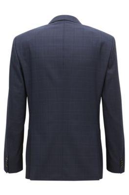 12284a608 BOSS - Stretch Tailoring Virgin Wool Suit, Slim Fit | Huge/Genius