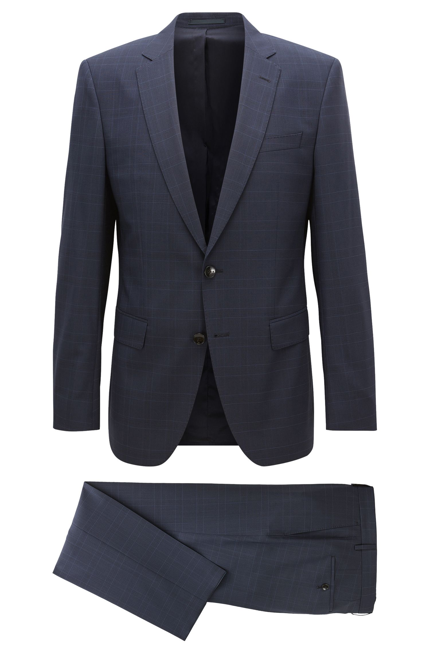 Stretch Tailoring Virgin Wool Suit, Slim Fit | Huge/Genius