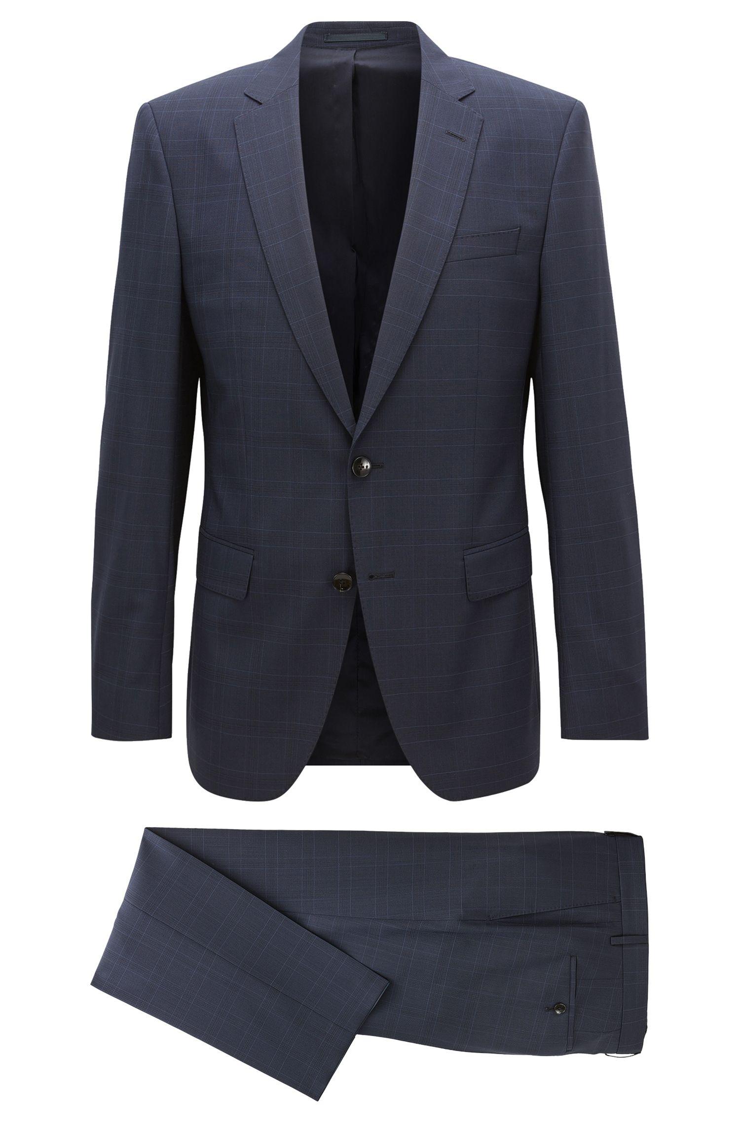 Glen Plaid Virgin Wool Suit, Slim Fit | Huge/Genius