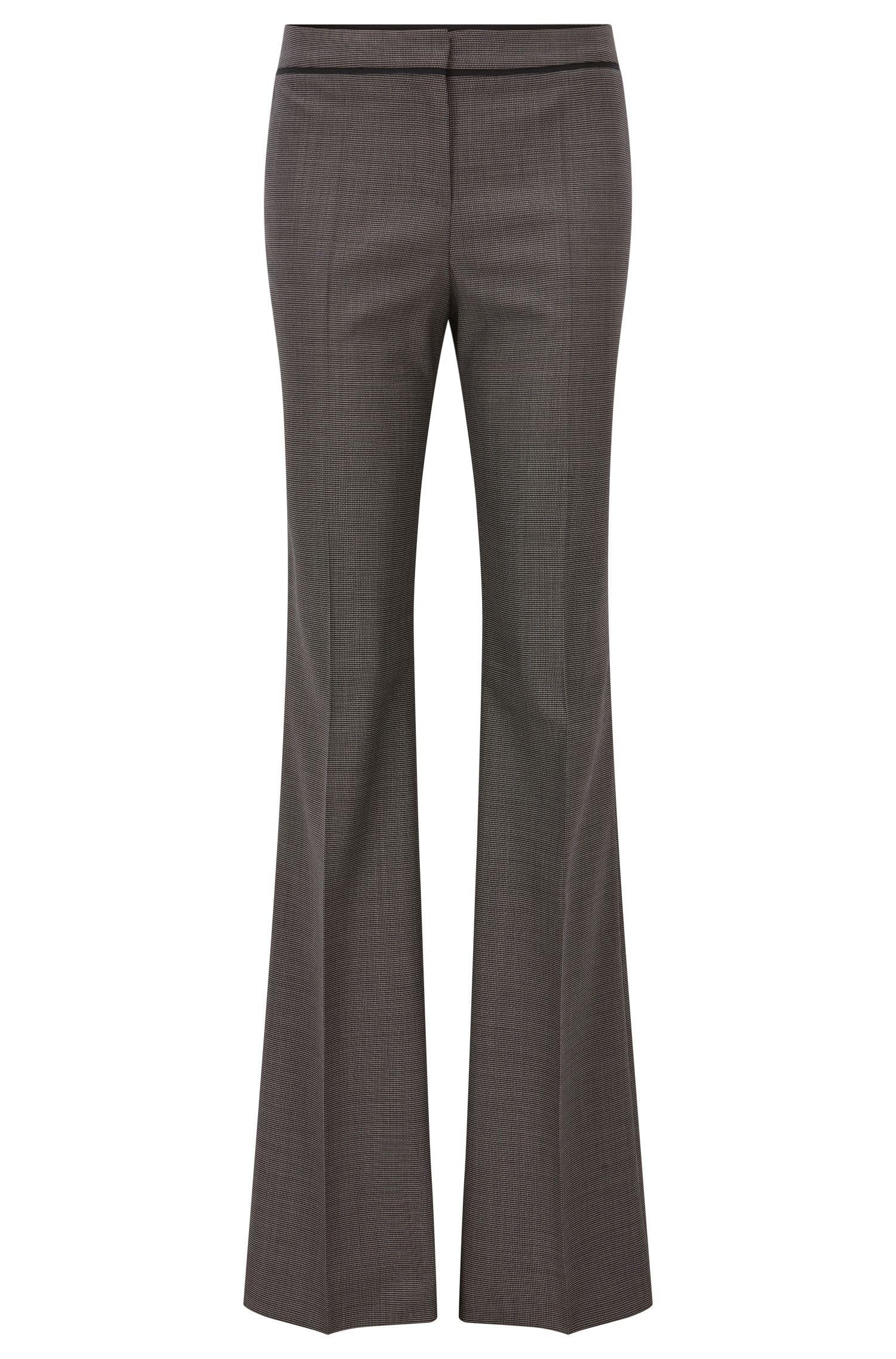 'Tulea' | Pindot Stretch Virgin Wool Pants