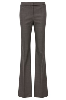 'Tulea' | Pindot Stretch Virgin Wool Pants, Patterned