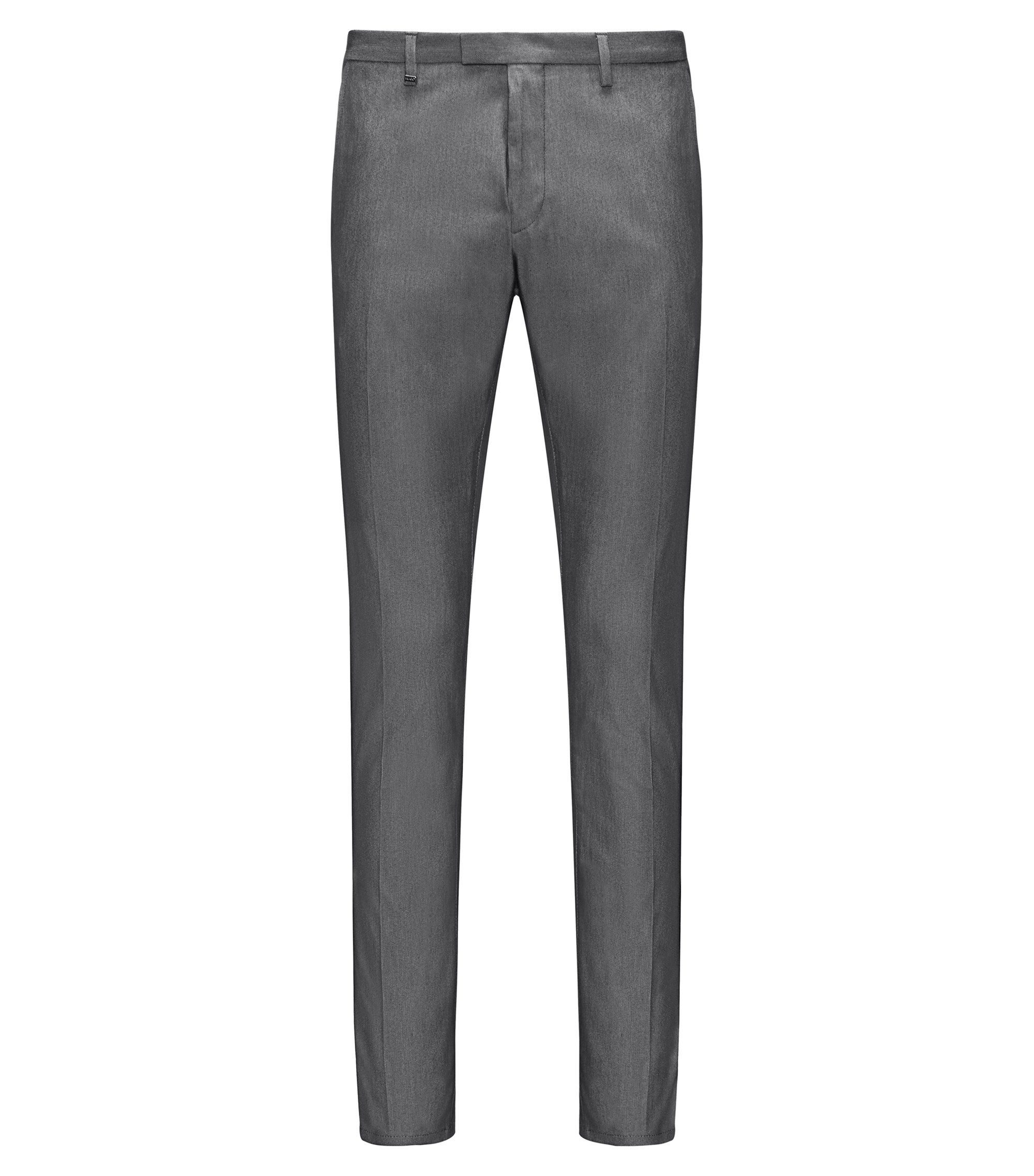 Stretch Cotton Pant, Extra Slim Fit | Helgo, Black