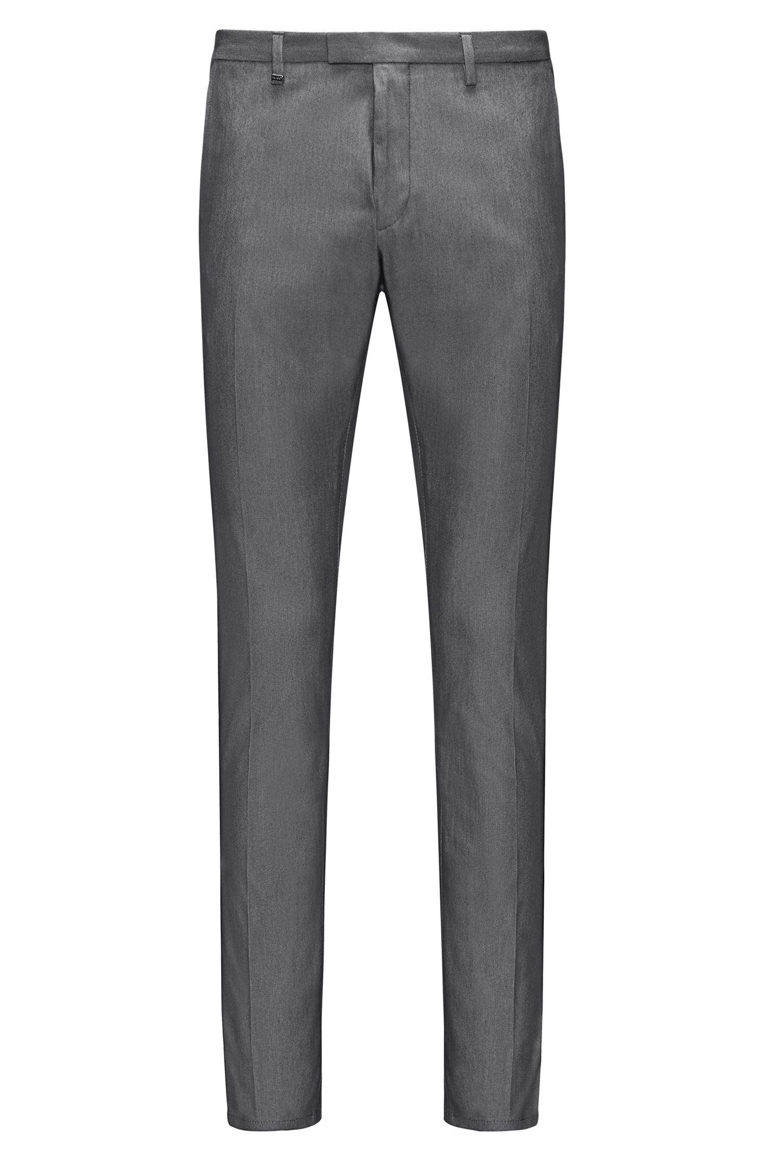 Stretch Cotton Pant, Extra Slim Fit | Helgo, Black