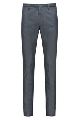 Stretch Cotton Pant, Extra Slim Fit | Helgo, Dark Blue