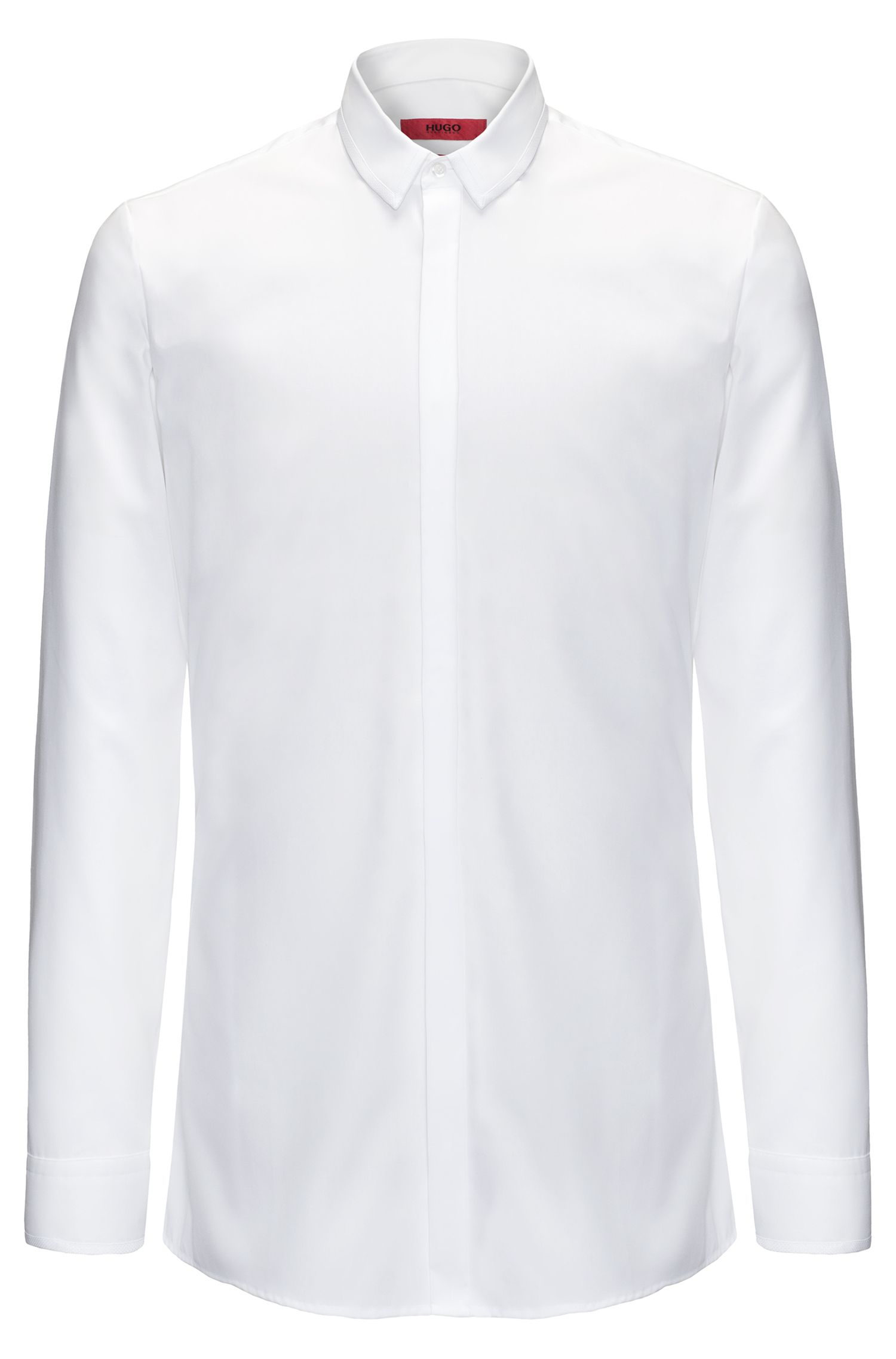 Easy-Iron Cotton Dress Shirt, Extra Slim Fit | Ebow, Open White