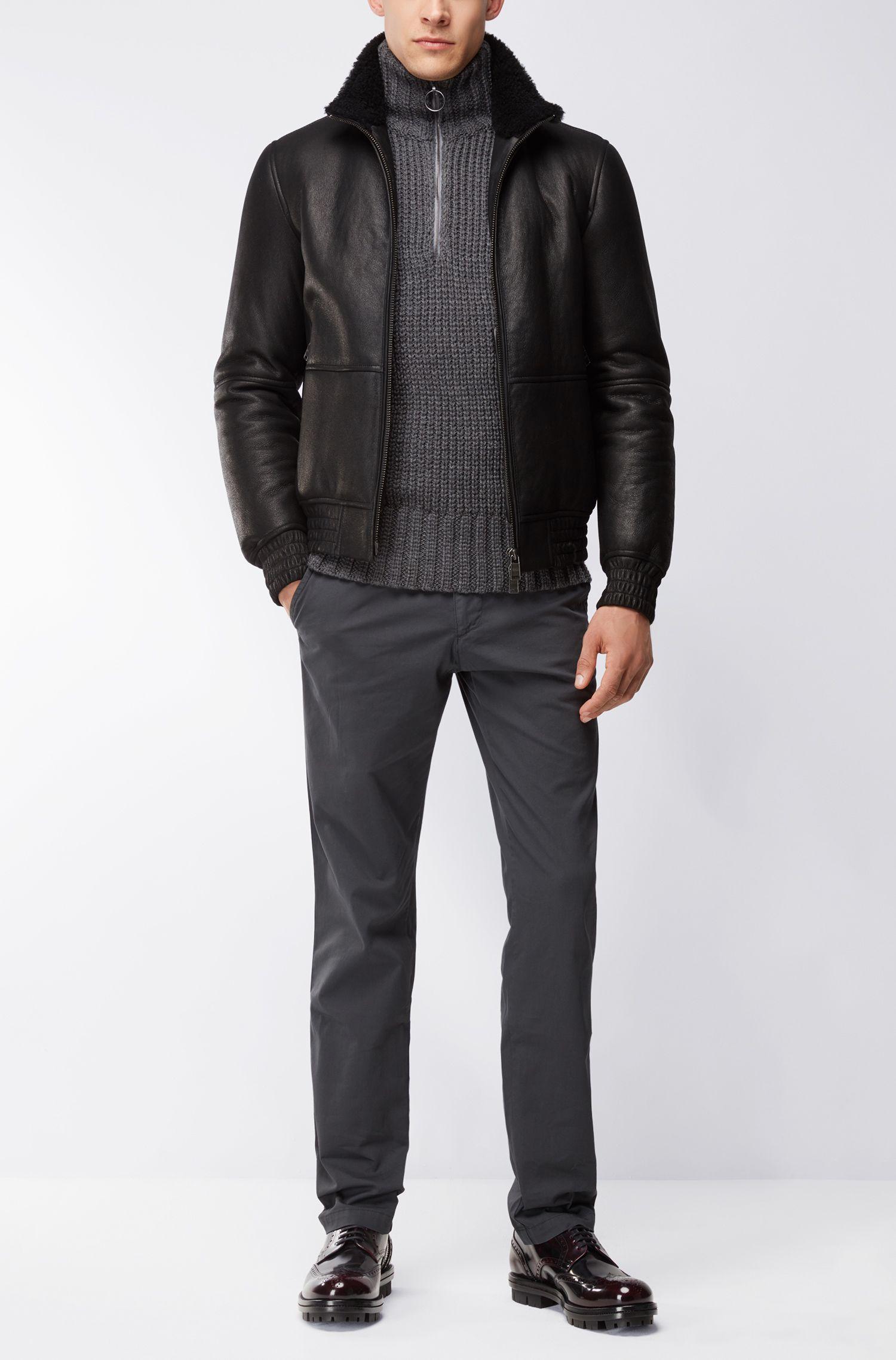 Virgin Wool Cable-Knit Sweater | Sherlock AM