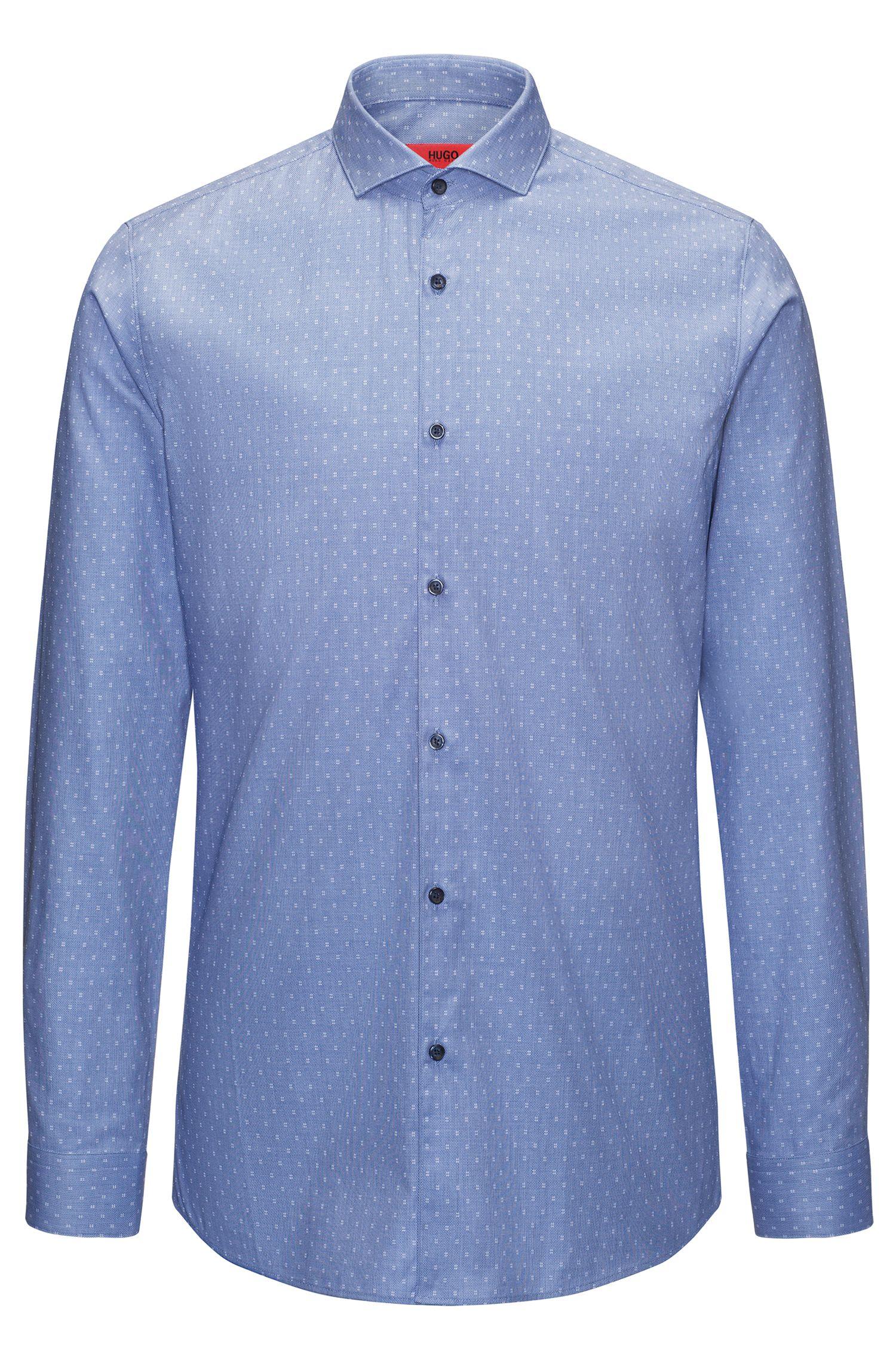 Hashtag Cotton Sport Shirt, Extra Slim Fit | Erriko