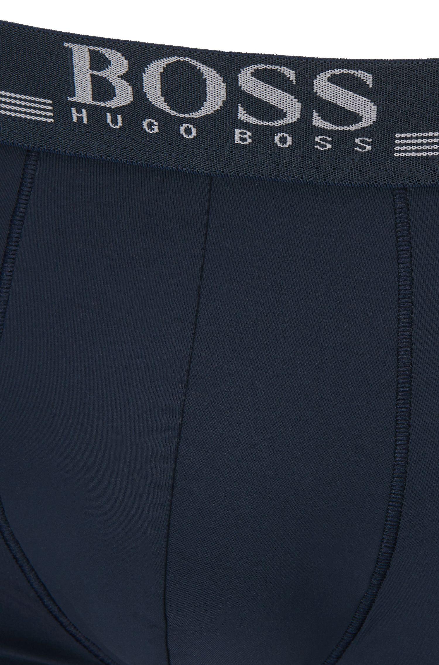Boxer briefs in four-way-stretch microfiber, Dark Blue