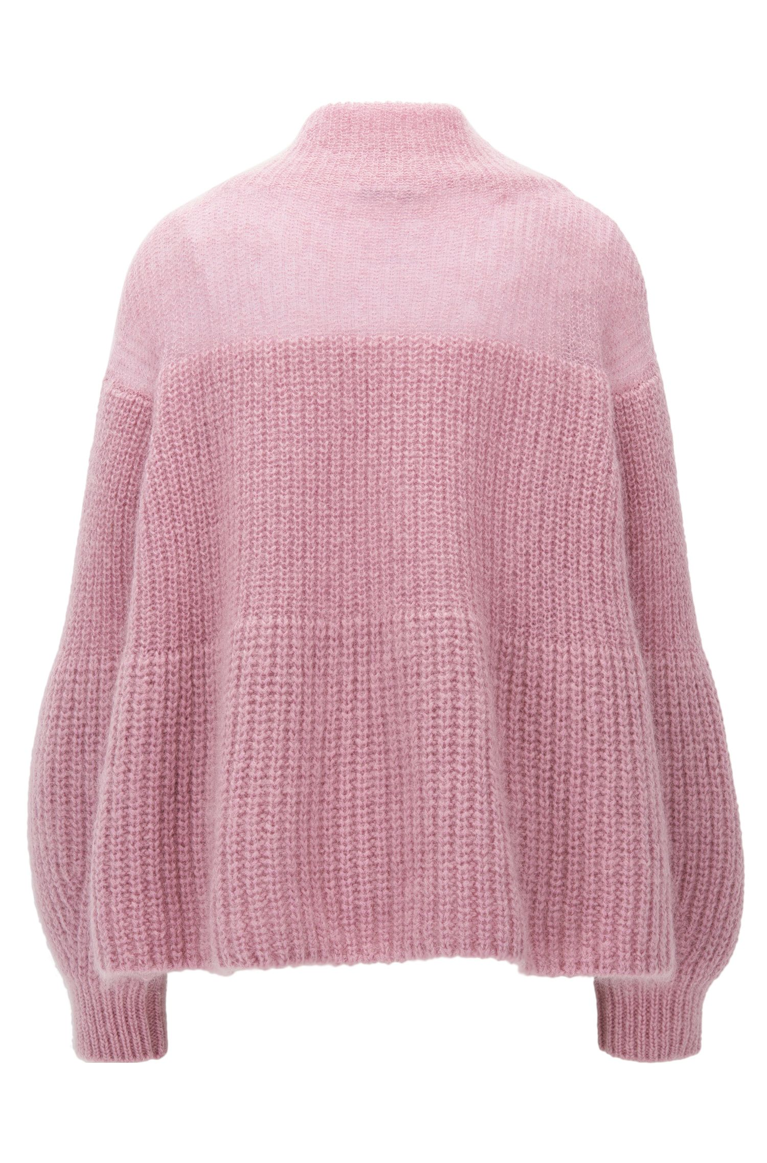 Mohair Blend Chunky Knit Sweater | Frieza