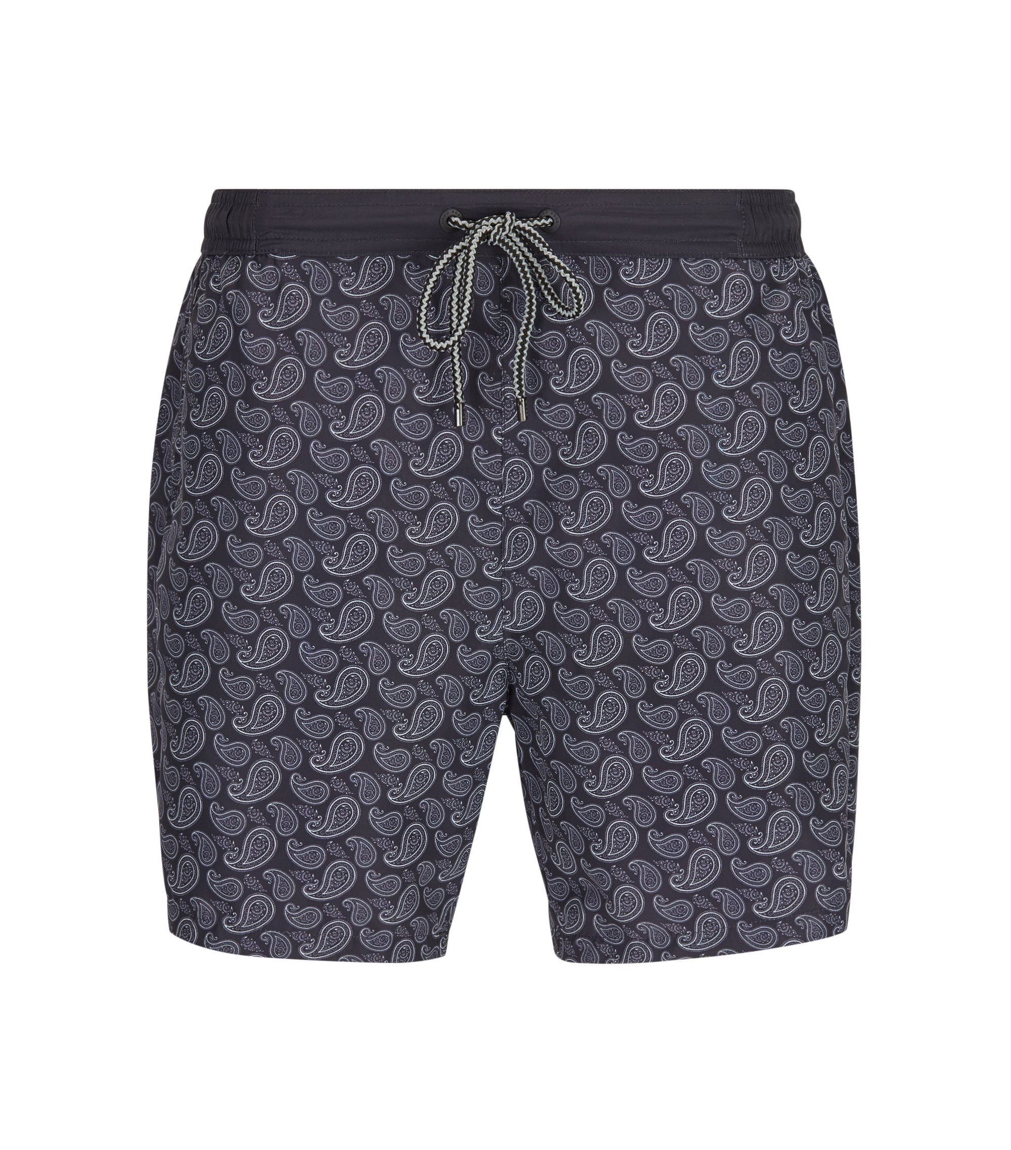 Paisley Quick Dry Swim Trunks | Scorpionfish, Open Grey