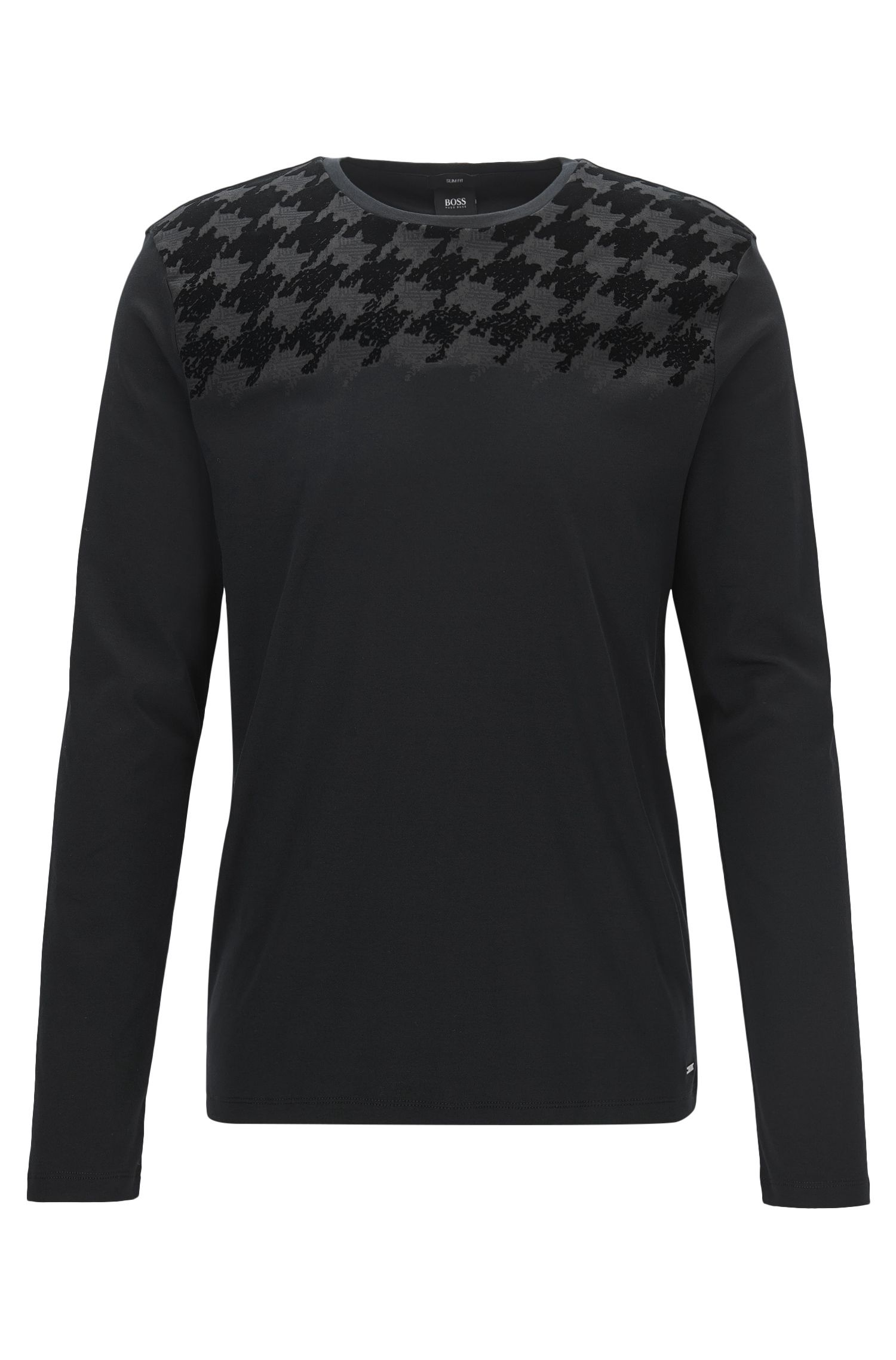 Houndstooth Cotton T-Shirt | Tenison