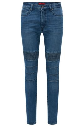 10.75 oz Stretch Cotton Blend Jeans, Skinny Fit | Hugo734, Blue