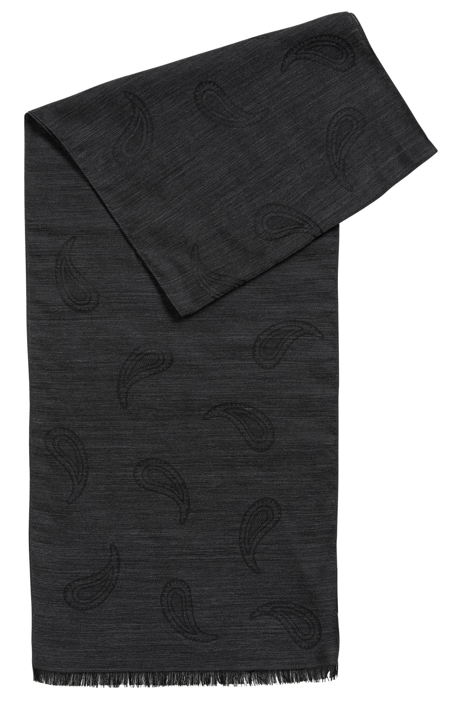 Paisley Jacquard Virgin Wool-Silk Scarf | Casley