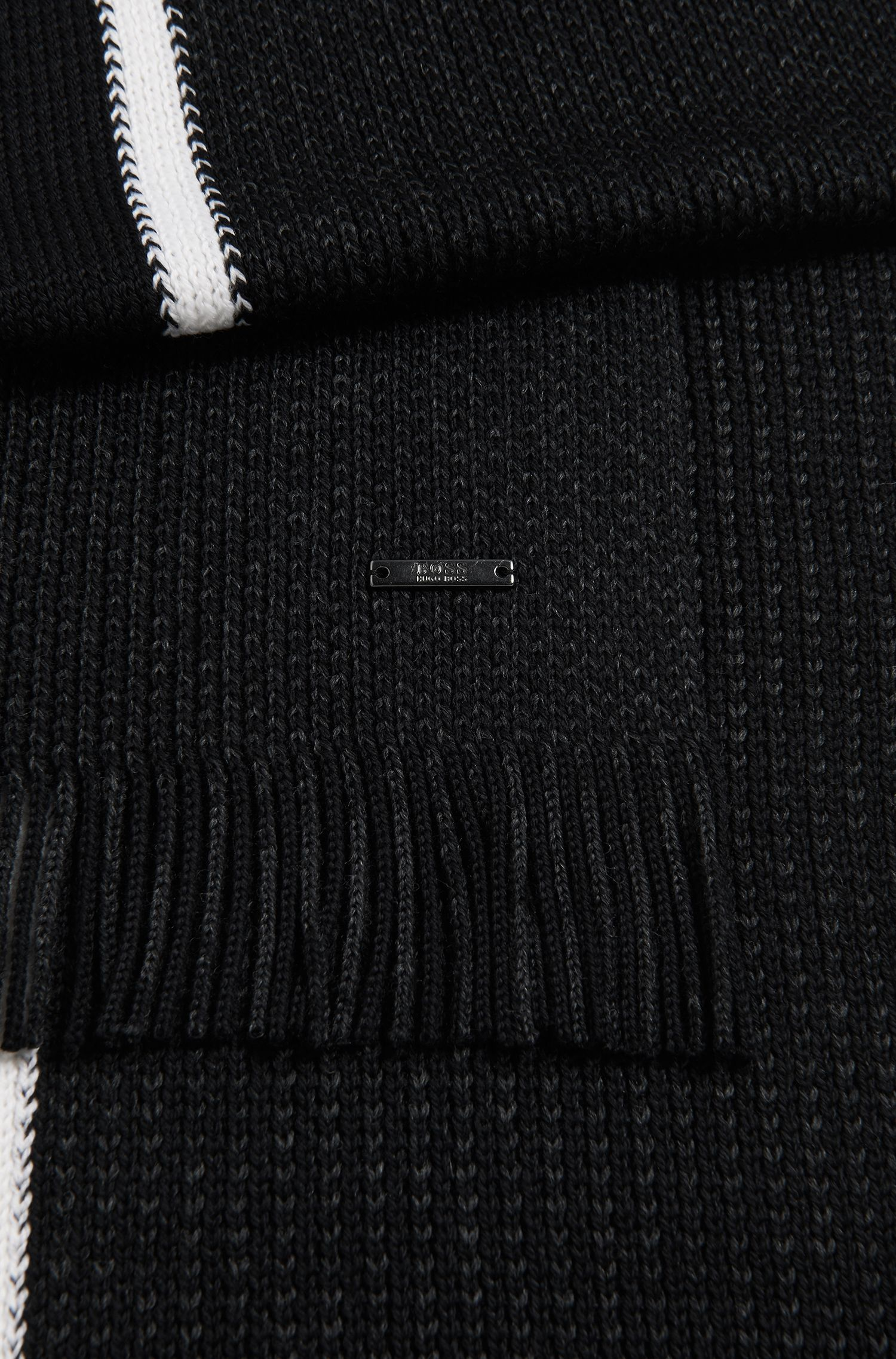 Virgin Wool Beanie & Scarf Set | Marros Set, Black