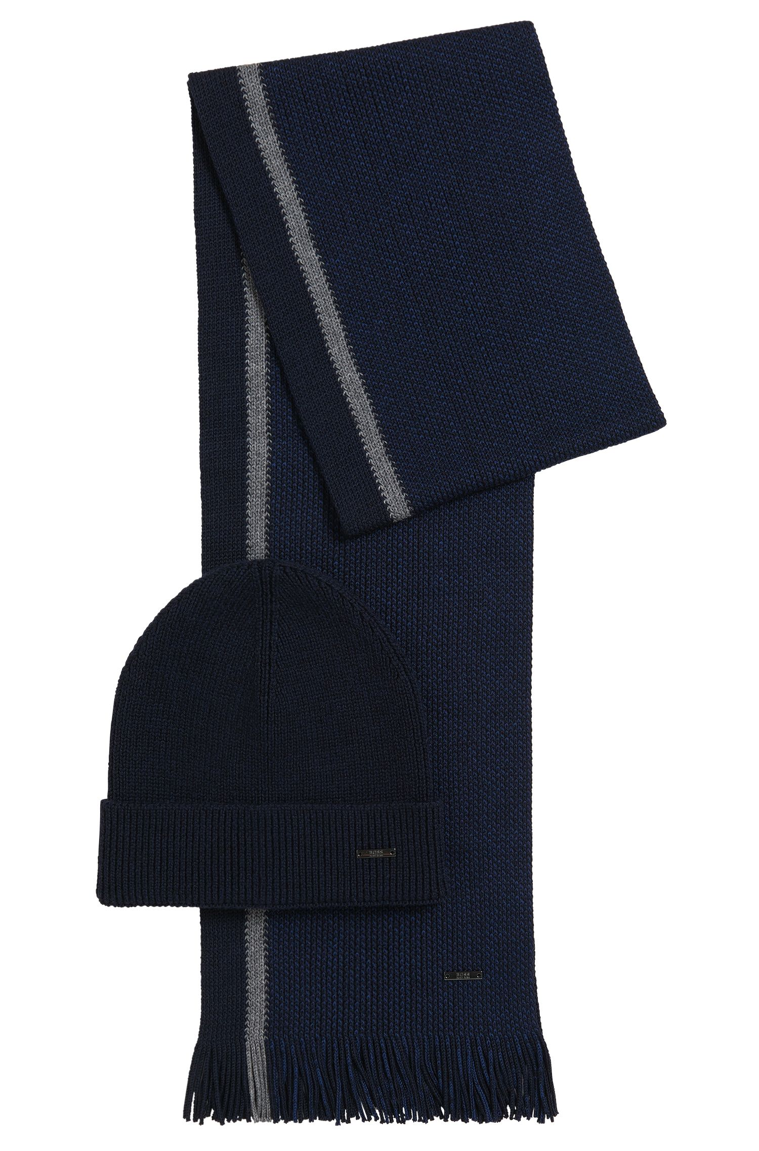Virgin Wool Beanie & Scarf Set | Marros Set