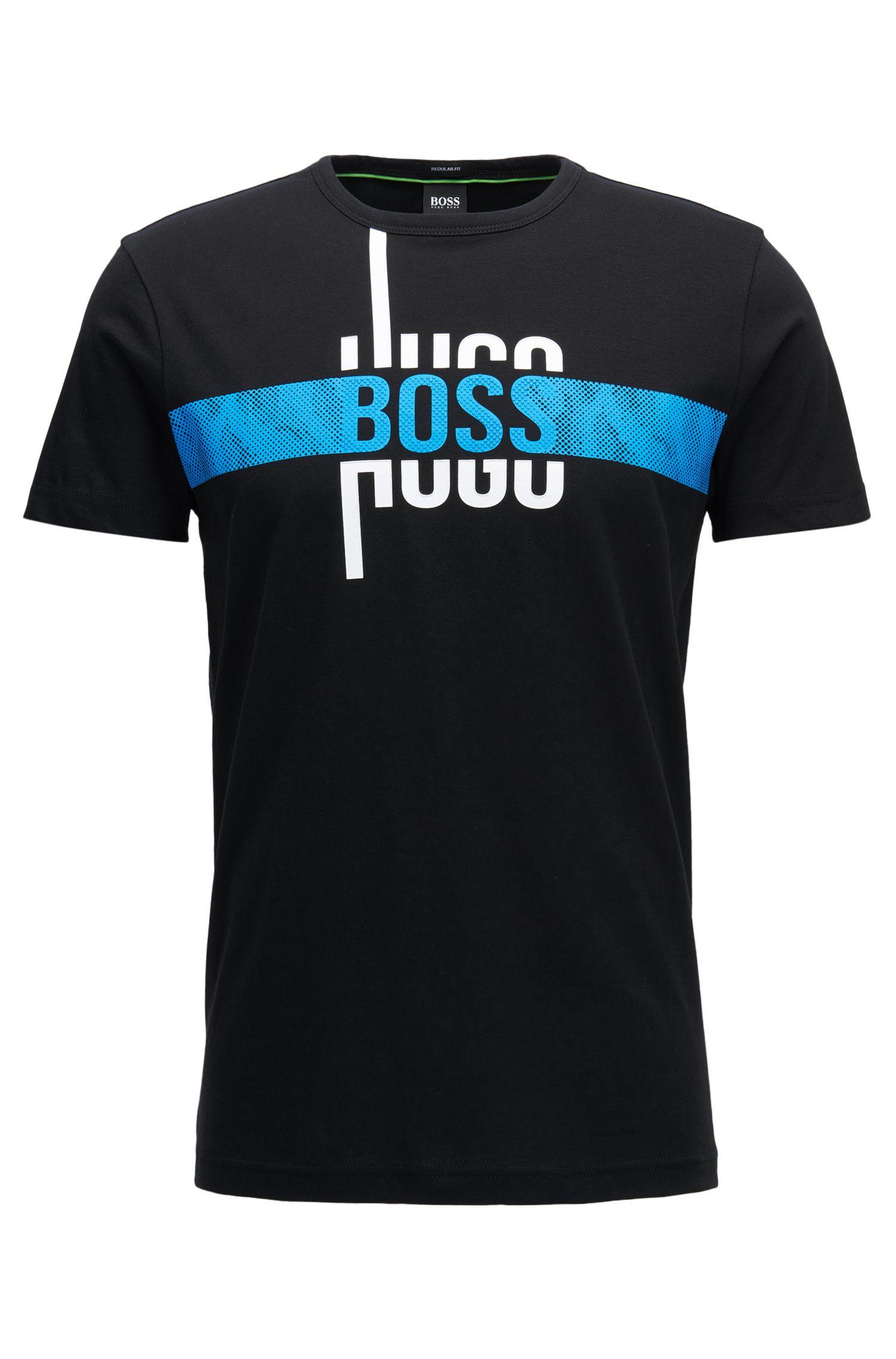 Cotton Graphic T-Shirt   Tee, Black