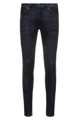 9.5 Printed Stretch Cotton Skinny Fit | Hugo 734, Dark Blue