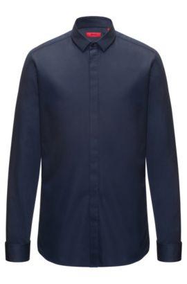 Easy-Iron Cotton Dress Shirt, Extra Slim Fit   Ejinar, Dark Blue