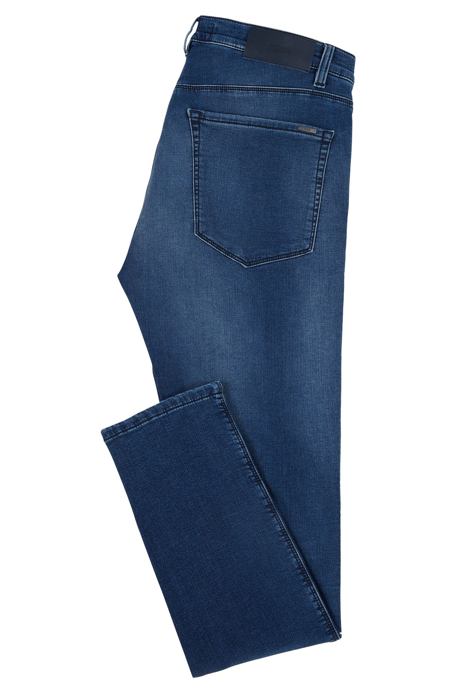 Stretch Cotton Jean, Skinny Fit | HUGO 734, Turquoise