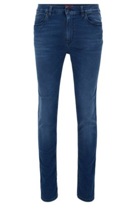 8.5 oz Stretch Cotton Jeans, Skinny Fit | HUGO 734, Turquoise