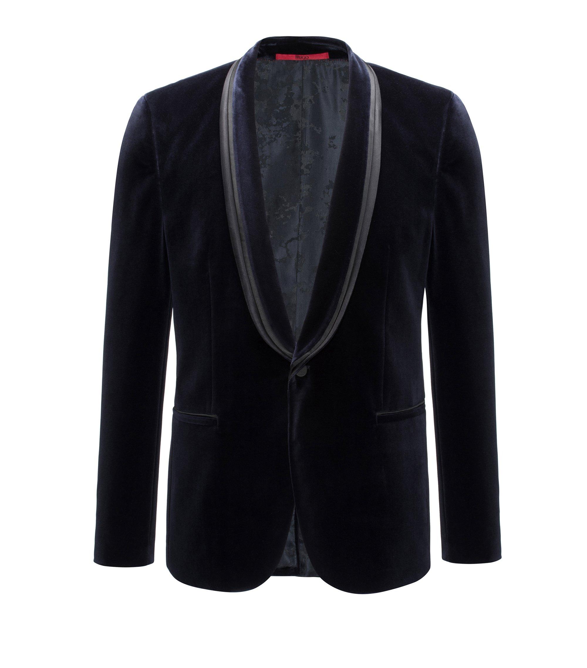 Velvet Sport Coat, Extra Slim Fit   Arondo, Dark Blue