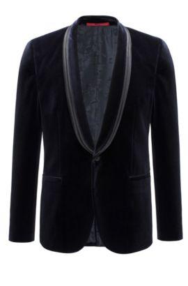 Velvet Sport Coat, Extra Slim Fit | Arondo, Dark Blue