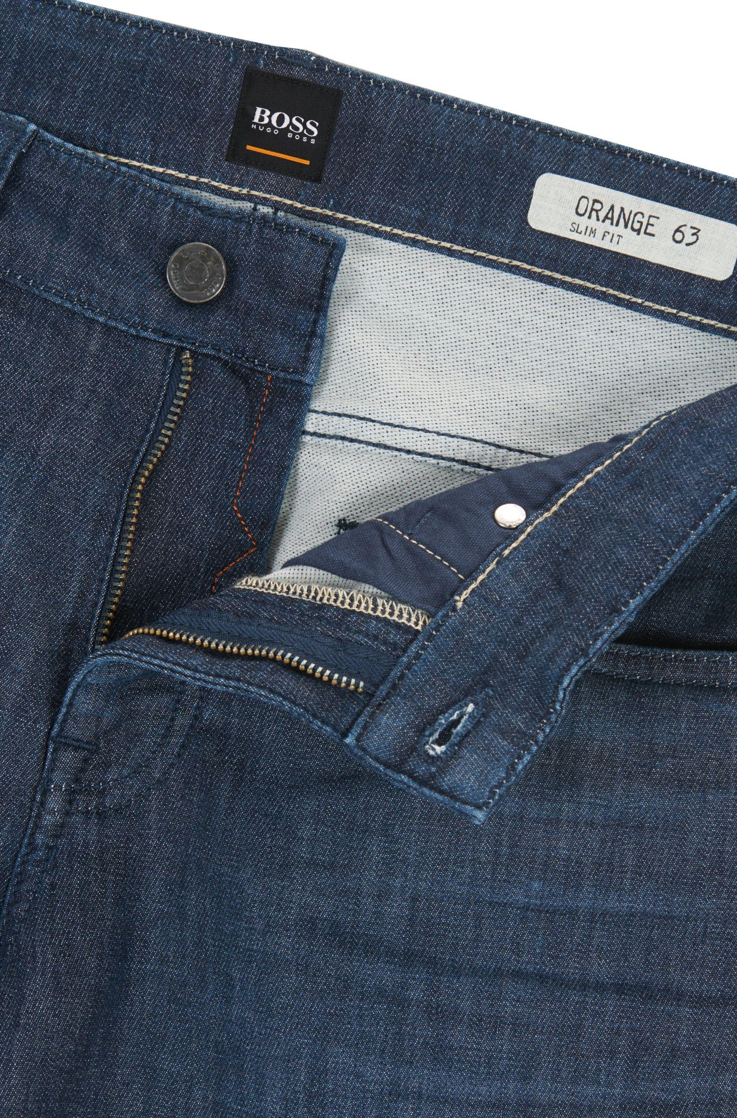 Stretch Cotton Jean, Slim Fit   Orange63 Helsinki-P