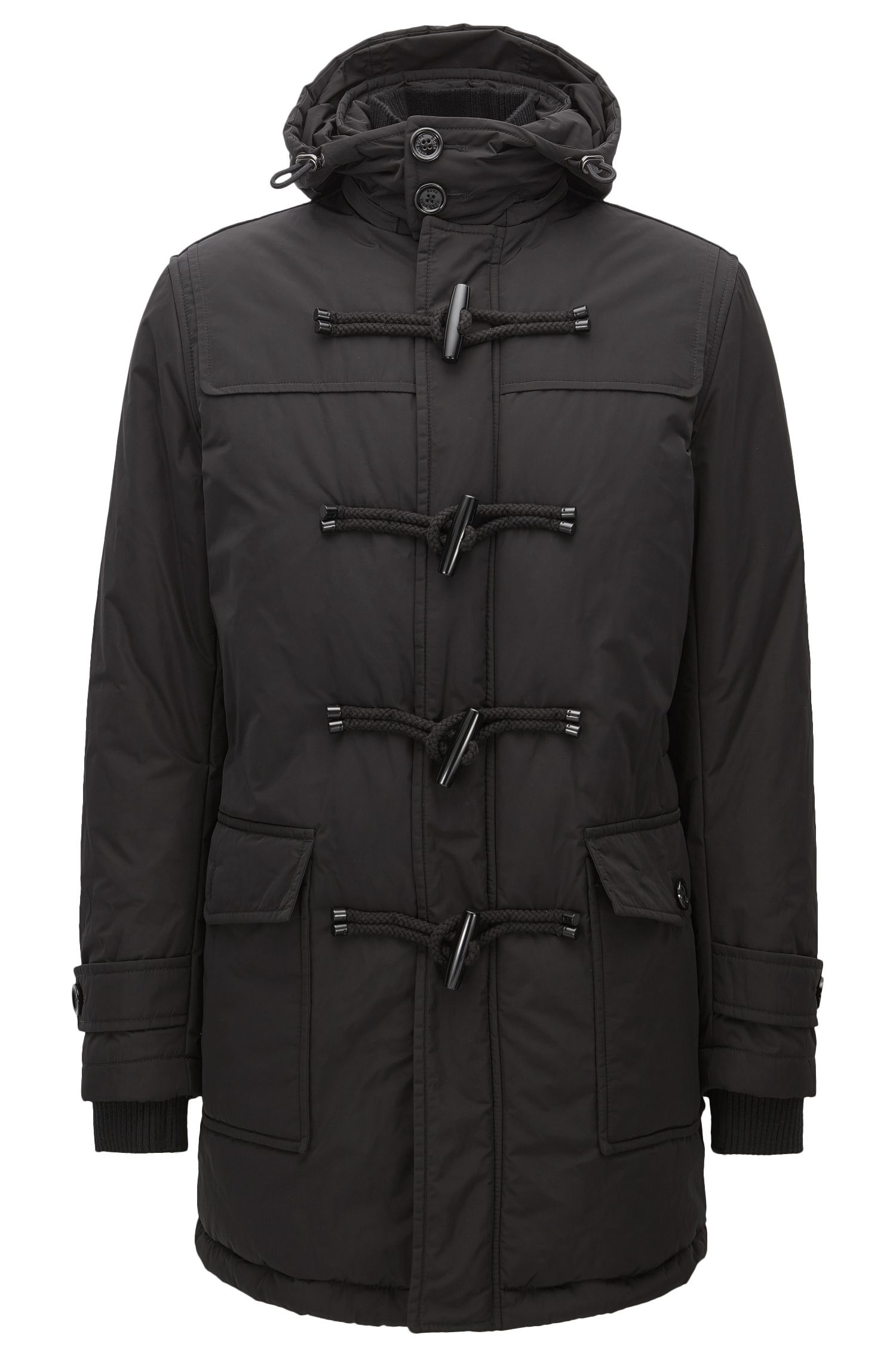 Nylon Duffle Coat | Cupello, Black
