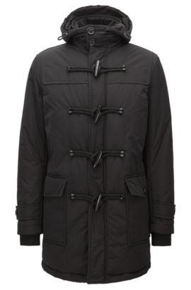 Nylon Duffle Coat | Cupello, Black