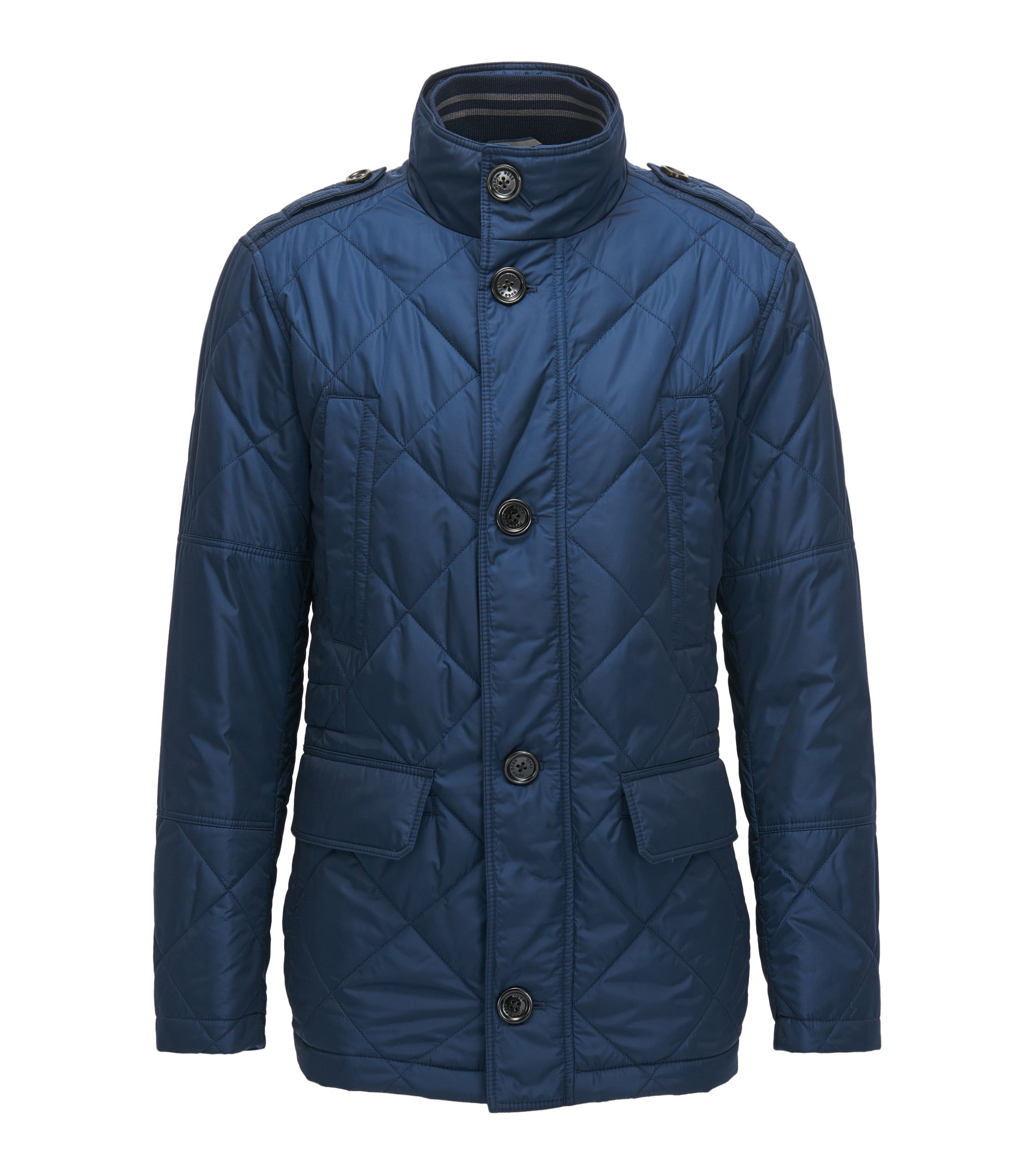 Quilted Nylon Field Jacket | Corvaro, Dark Blue