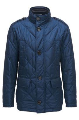 Quilted Nylon Field Jacket | Corvaro, Dark Blue