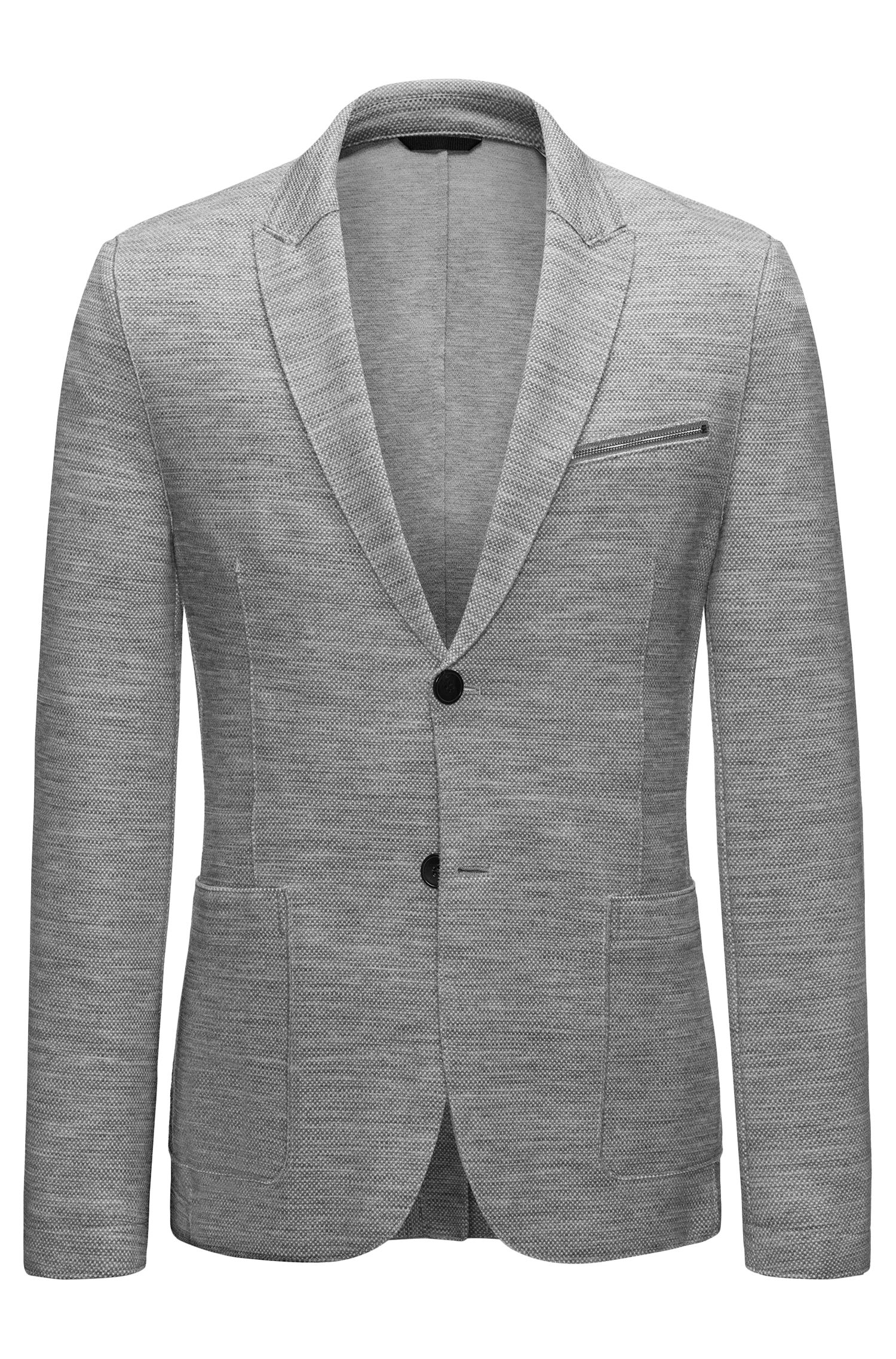 Wool Blend Sport Coat, Slim Fit | Aprino, Grey